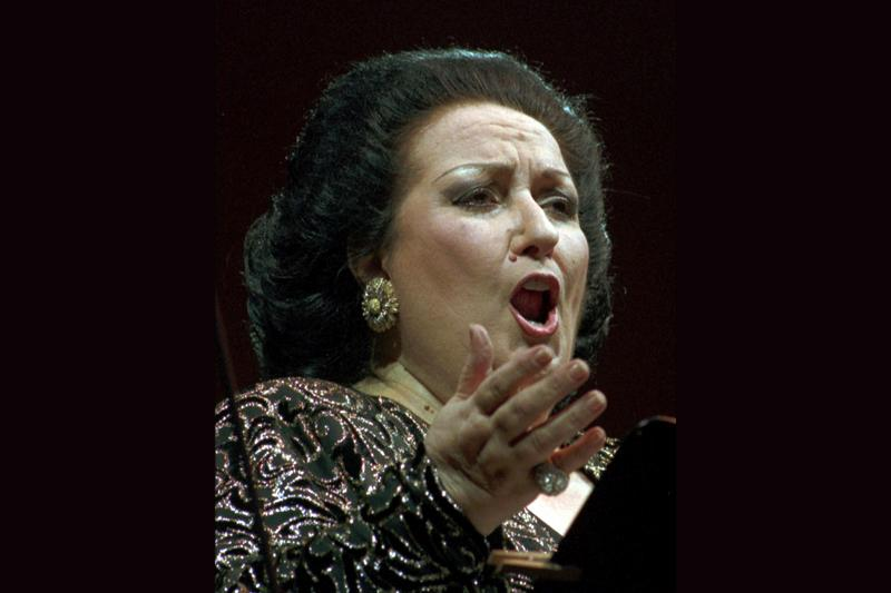 Montserrat Caballe performing in 1996.
