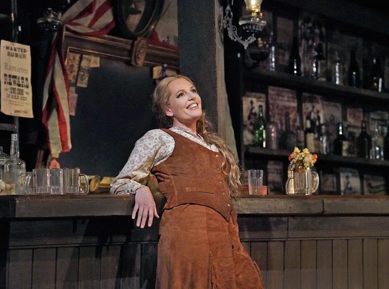"""Eva-Maria Westbroek as Minnie in Puccini's """"La Fanciulla del West."""""""