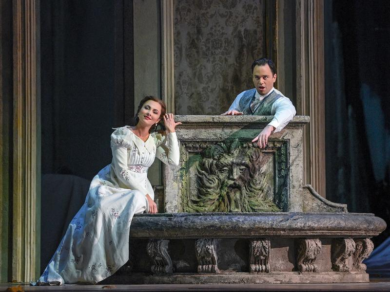 "Isabel Leonard as Mélisande and Paul Appleby as Pelléas in Debussy's ""Pelléas et Mélisande."""