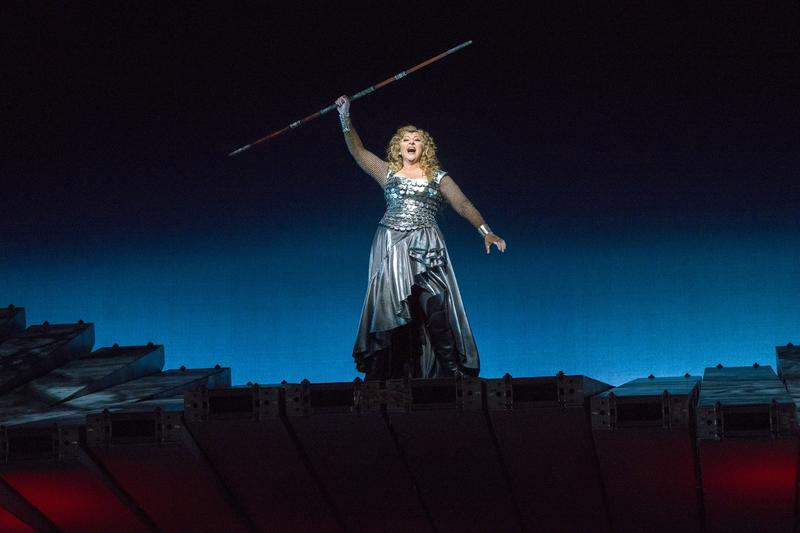 "Christine Goerke as Brünnhilde in Wagner's ""Die Walküre."