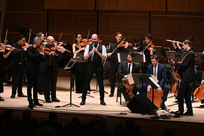 The Knights with Clarinetist Kinan Azmeh at Carnegie Hall's Zankel Hall.