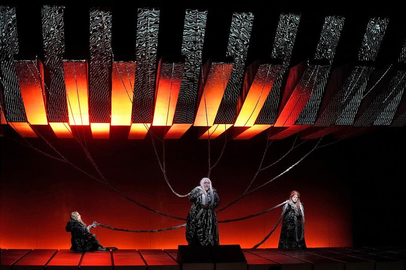 "Elizabeth Bishop, Ronnita Miller, and Wendy Bryn Harmer as the Norns in Wagner's ""Götterdämmerung."""