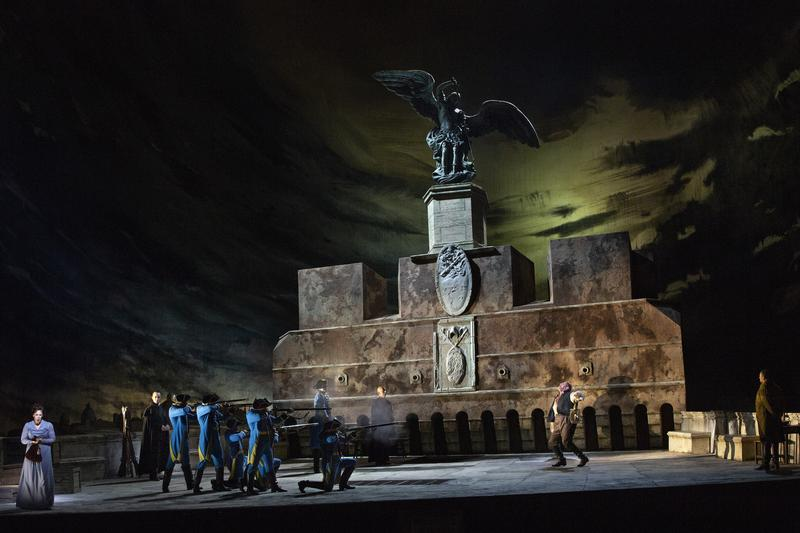 """A scene from Act III of Puccini's """"Tosca."""""""