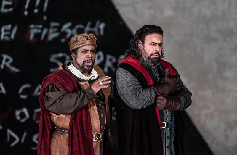 Mark Rucker as Paolo and Carlos Álvarez as Boccanegra