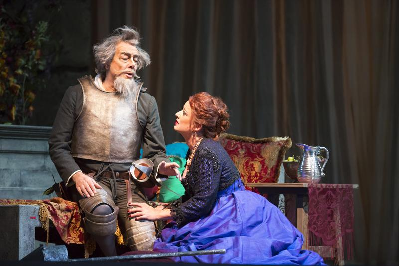 Ferruccio Furlanetto in the title role and Clementine Margaine as Dulcinée in Massenet's 'Don Quichotte.'