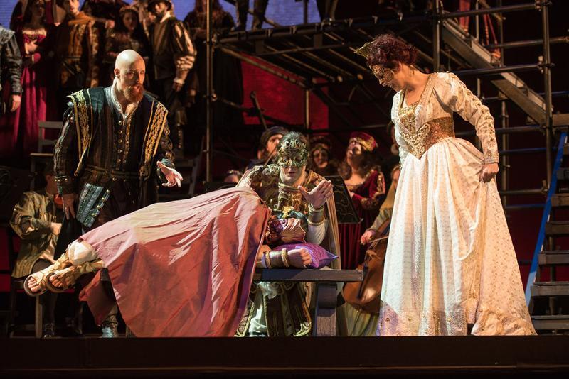 "A scene from OperaDelaware's production of ""Amleto"""