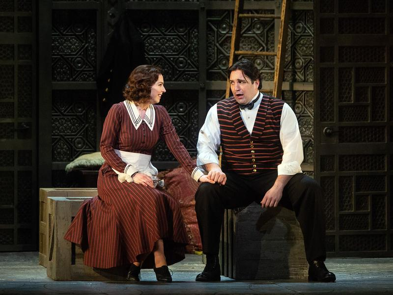 "Hanna-Elisabeth Müller as Susanna and Adam Plachetka as Figaro in Mozart's ""Marriage of Fiagro."""