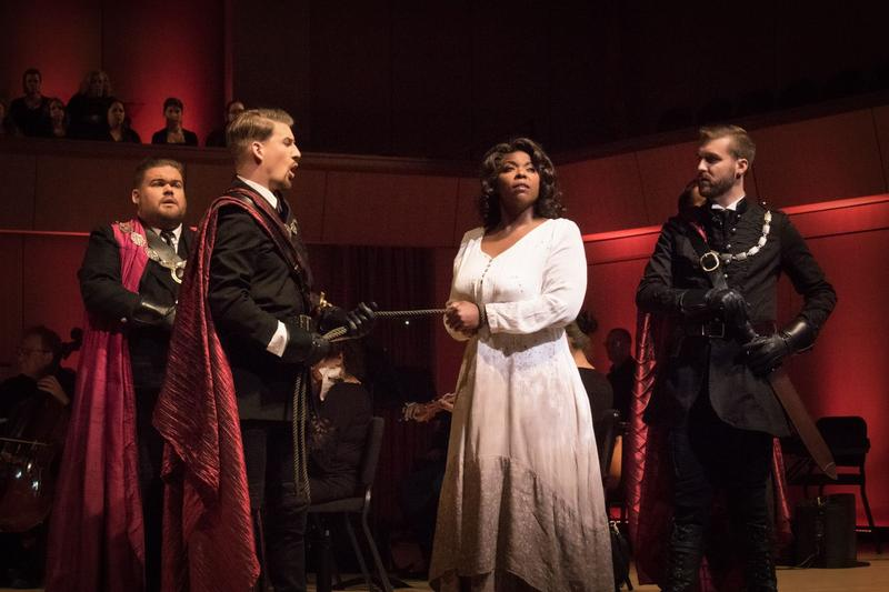 """A scene from OperaSouthwest's production of """"Lohengrin"""""""