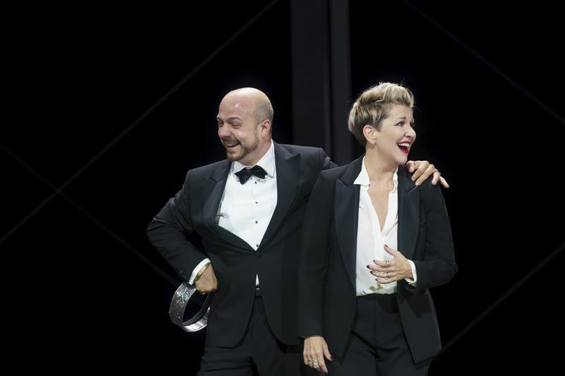 Gianluca Buratto as Claudio and Joyce DiDonato as Agrippina