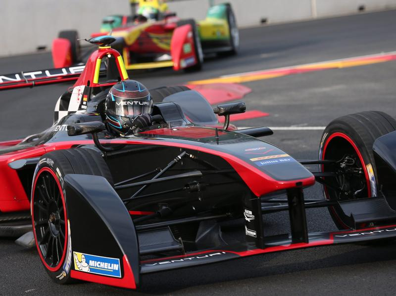 German Driver Nick Heidfeld Of Venturi Formula E Team The All Electric Cars Can