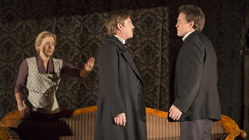 Kathleen McNenny (left to right),  Richard Thomas and Boyd Gaines in Manhattan Theatre Club's <em>An Enemy of the People</em>.