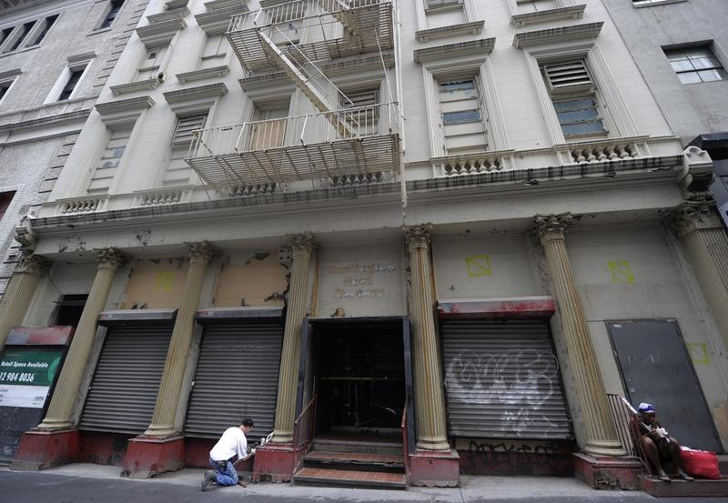 The former Burlington Coat Factory building that will make way for the Cordoba House which some are calling the 'Ground Zero Mosque' is seen in lower Manhattan on July 29, 2010 in New York.