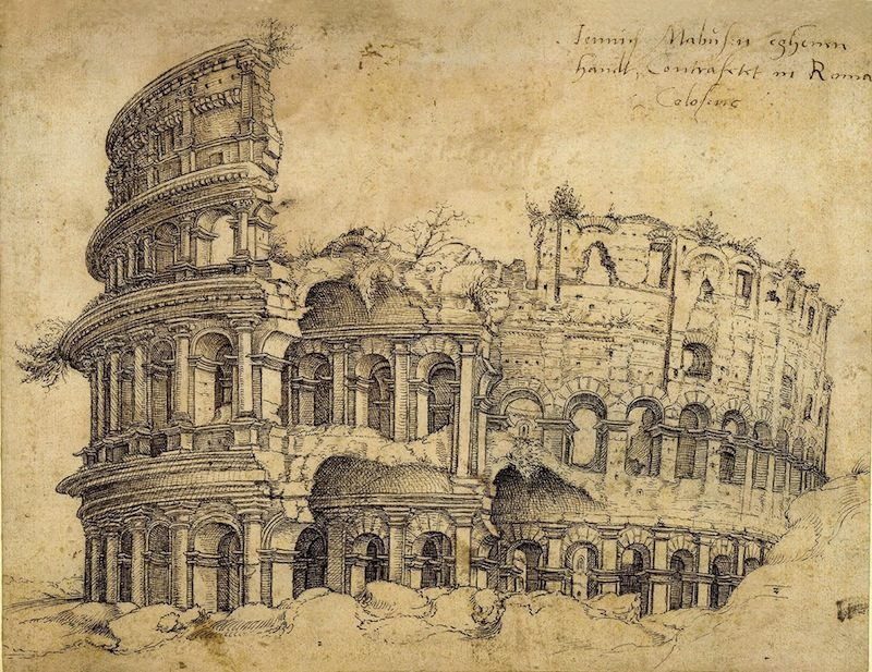 At the Met: Jan Gossart's sketch of the Colosseum in Rome.