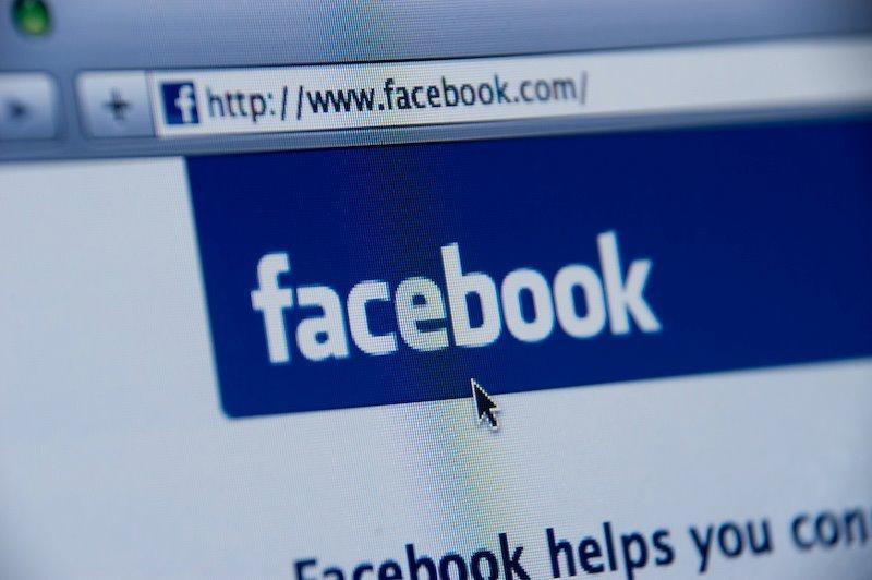 Facebook login screen.