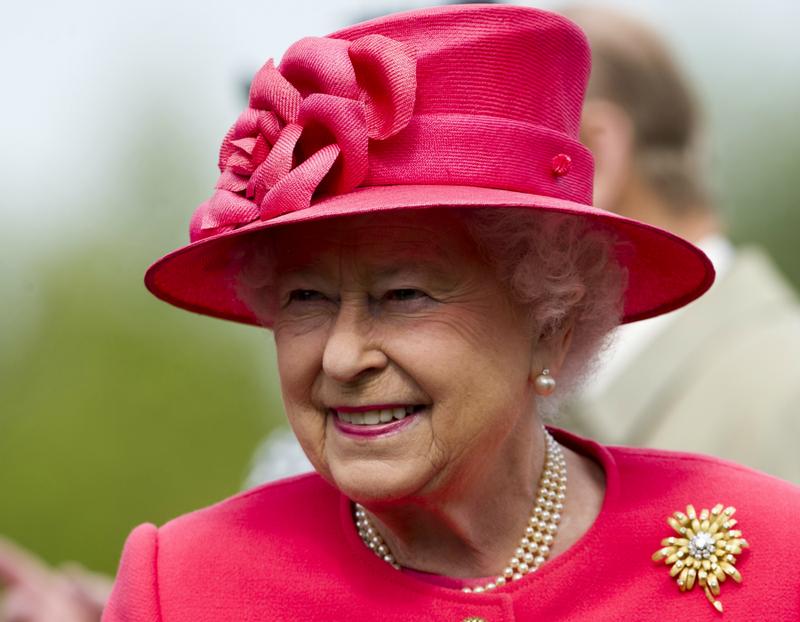 Queen Elizabeth II on tour in Chester, England celebrating her Diamond Jubilee