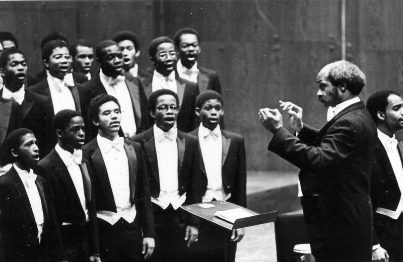 The Morehouse Glee Club with Wendall Whalum, circa 1981