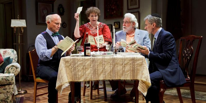 "(L-R) Dan Butler, Marcia Jean Kurtz, Richard Masur, and David Garrison in ""Olive and the Bitter Herbs."""