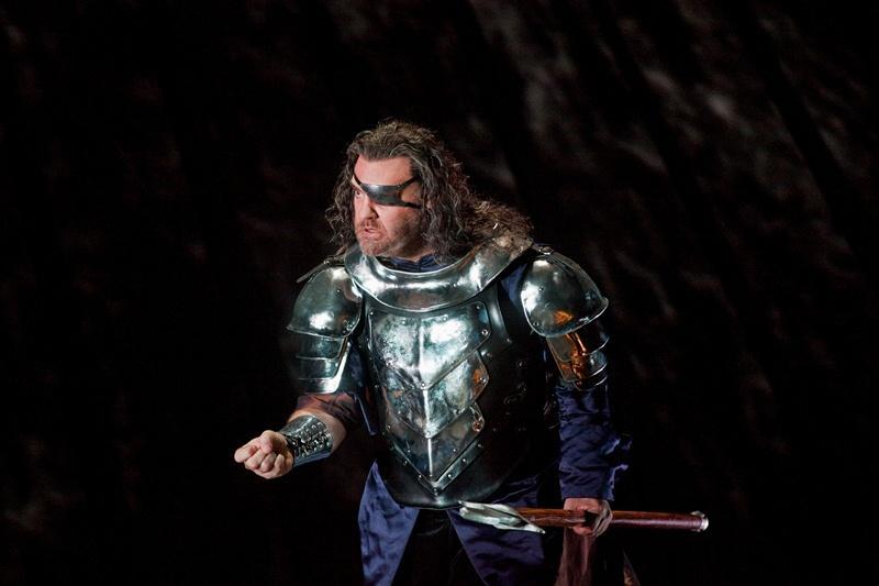 Bryn Terfel as Wotan in the Met Opera production of Wagner's <em>Die Walküre</em>