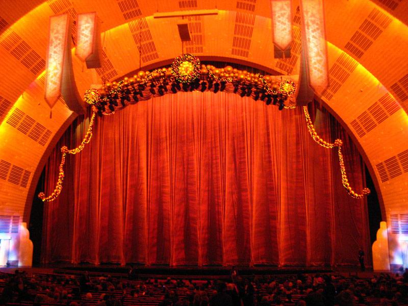 inside Radio City Music Hall
