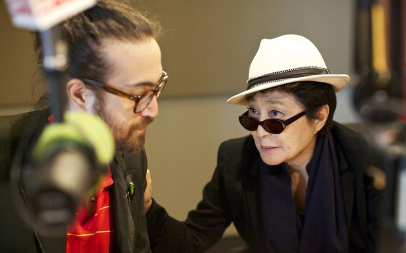 Mother Son Yoko Ono Sean Lennon Spinning On Air Wnyc