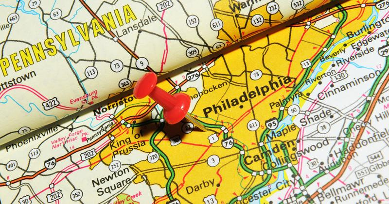 This Stretch Of I Is A Microcosm For Americas Challenges The - Philadelphia on us map
