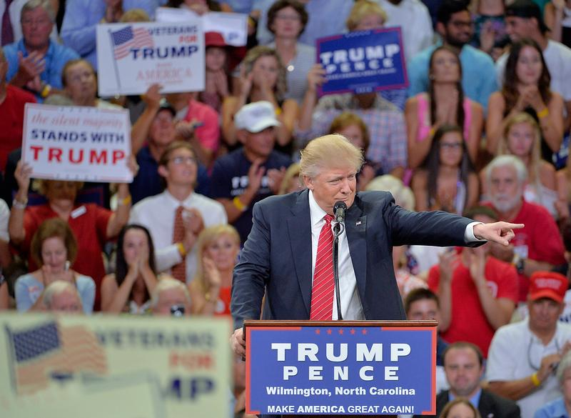At a rally in Wilmington, N.C., on August 9, Donald Trump told a crowd that Hillary Clinton wants to abolish the Second Amendment, and insinuated that her opponents might act violently towards her.