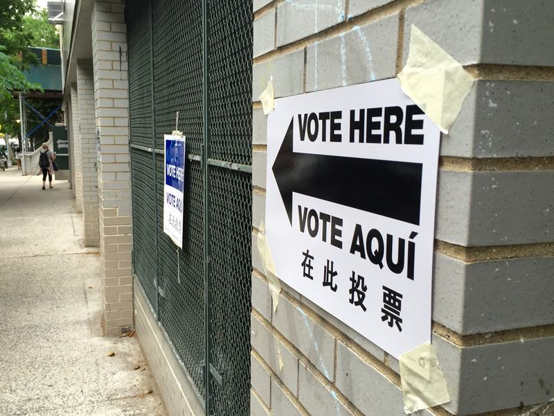 NYC poll site.