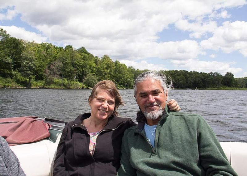 An undated photo of Ravi Ragbir and his wife Amy Gottlieb.