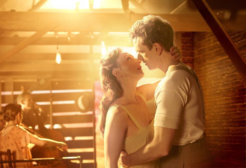 Carmen Cusack and Paul Alexander Nolan perform in 'Bright Star.'