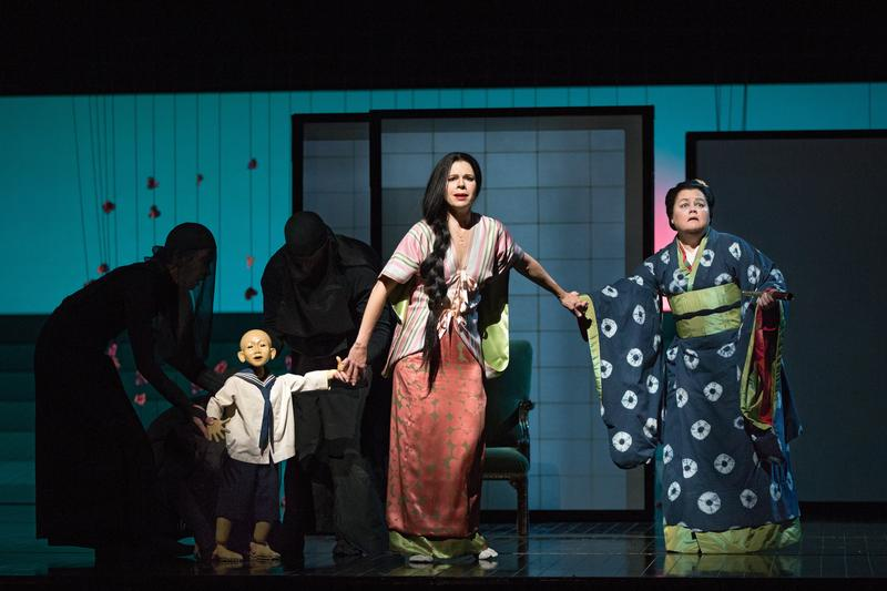 Maria Zifchak (right) portrays Suzuki in 'Madam Butterfly' at the Metropolitan Opera.