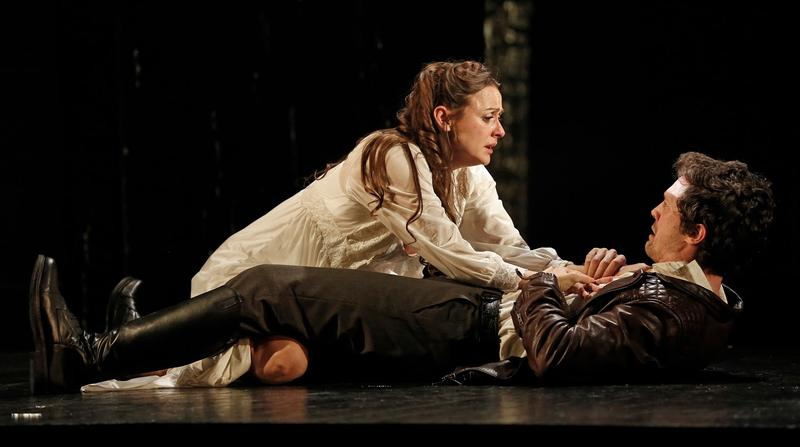 Sara Topham as Beatrice and Christian Coulson as Alsemero in Red Bull Theater company's production of 'The Changeling.'