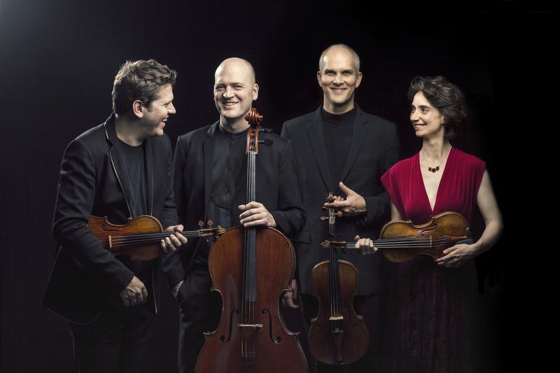 Cuarteto Casals: Abel Tomàs, violin; Jonathan Brown, viola; Arnau Tomàs, cello; and Vera Martinez, violin.
