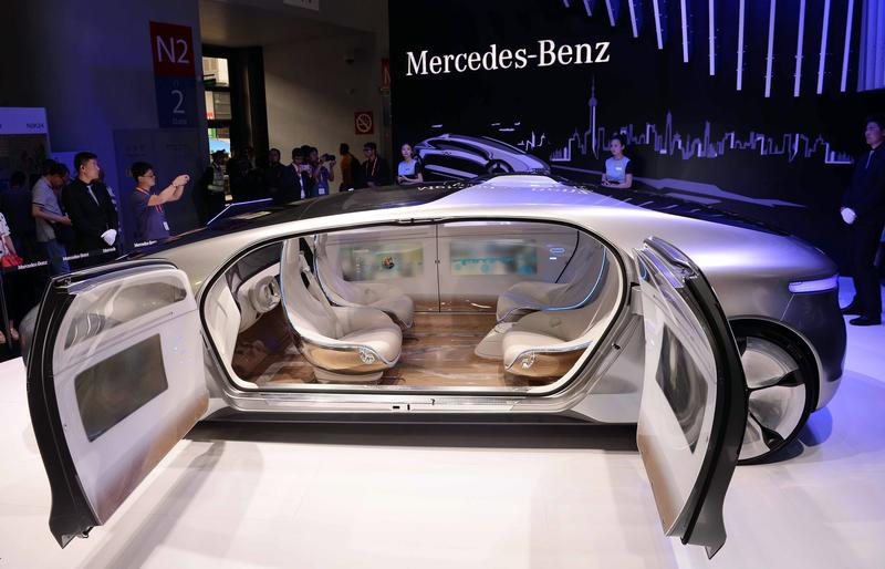 A Driverless Car From Mercedes Benz Is Seen On Display During The First Consumer Electronics Show Ces In Asia Shanghai May 26 2017