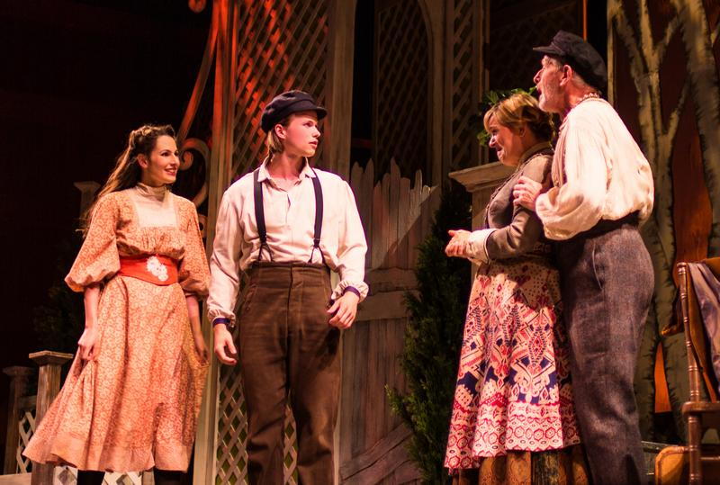 From left to right: Rachel Zatcoff, Cameron Johnson, Lisa Fishman and Bruce Rebold in 'The Golden Bride' at the National Yiddish Theatre Folksbiene.