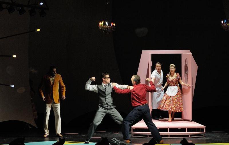 Bohuslav Martinu 's 'Mirandolina' from the National Moravian-Silesian Theatre in Ostrava.