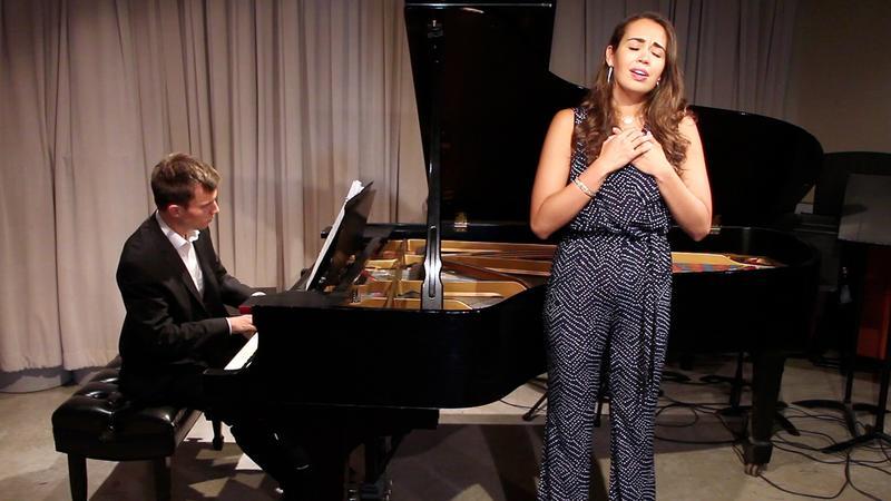 Soprano Nadine Sierra and pianist Bryan Wagorn in the WQXR studio.