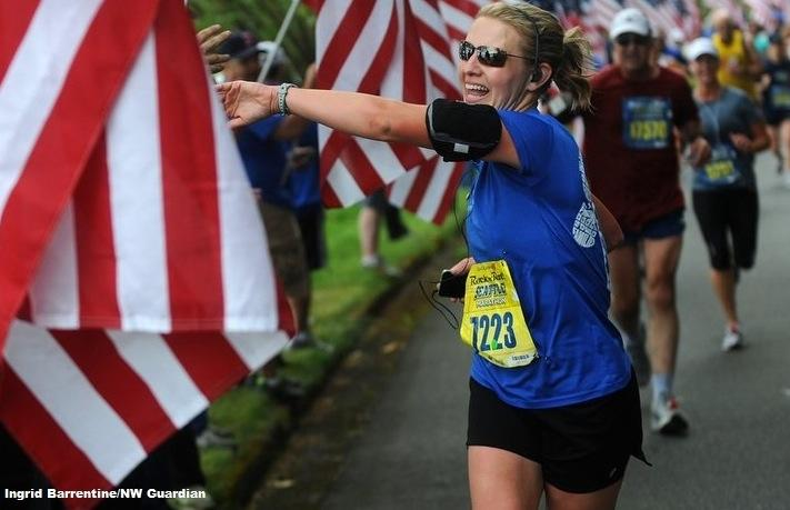 A Military Widow and Her Community Find Solace in Running