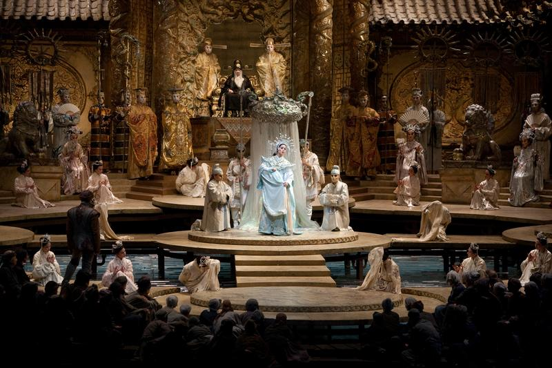 "Lise Lindstrom in the title role of Puccini's ""Turandot."""