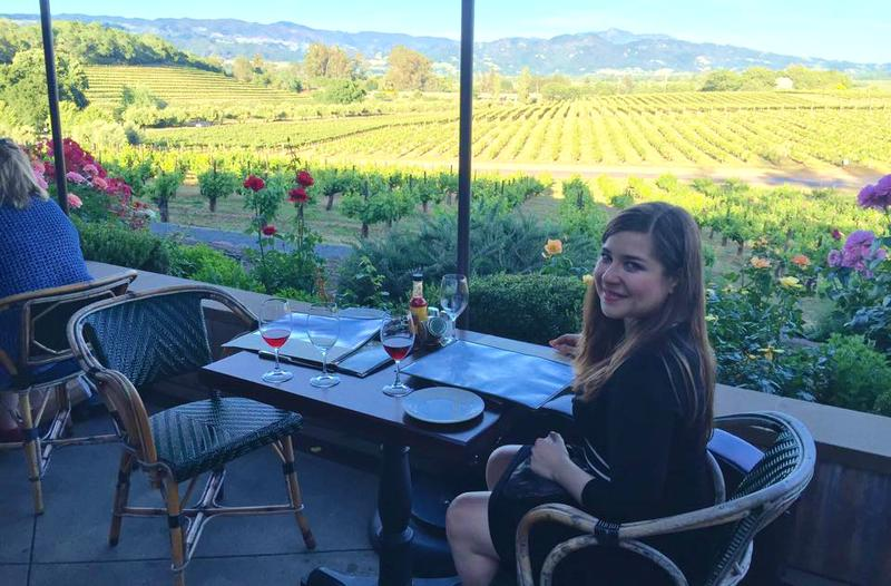 Alisa Weilerstein enjoys the vineyards of Sonoma, CA after a recent recital