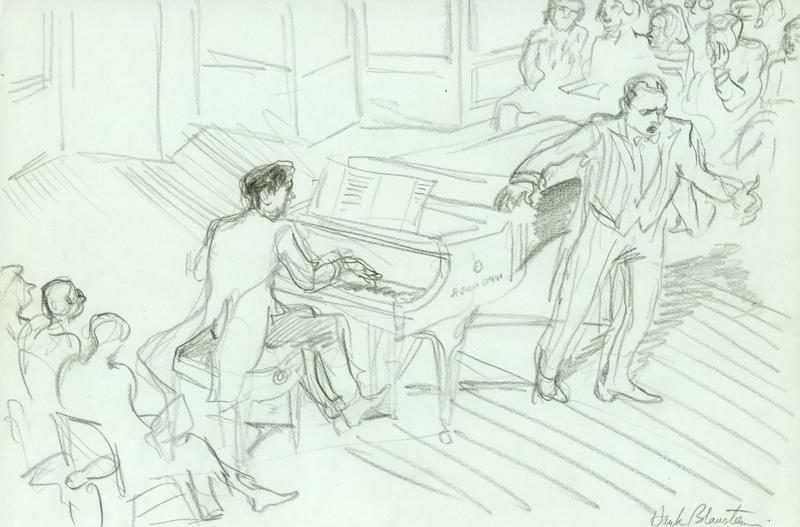 This illustration of José Carreras is from Hank Blaustein's book 'Drawn to Opera.'
