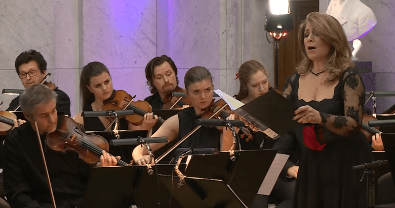 """Contralto Fadia El-Hage and the Norwegian Chamber Orchestra performing """"Erbarme DIch"""" (in Arabic) from """"St. Matthew Passion."""""""