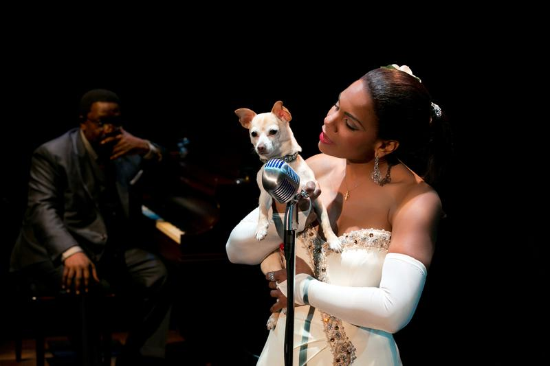 Audra McDonald, Shelton Becton and Roxie in 'Lady Day at Emerson's Bar and Grill.'