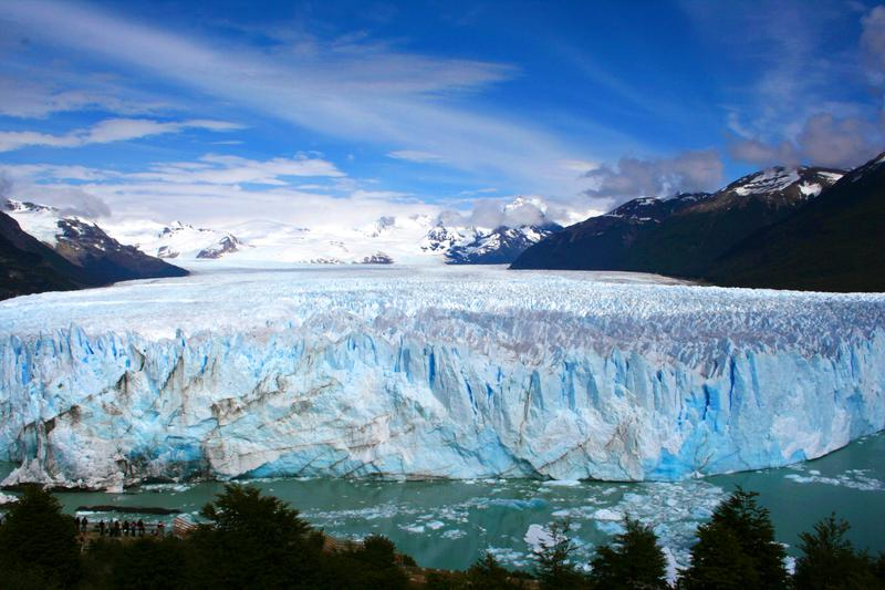 New York is in the midst of a heat dome, but it's winter in Patagonia, where this glacier is located.