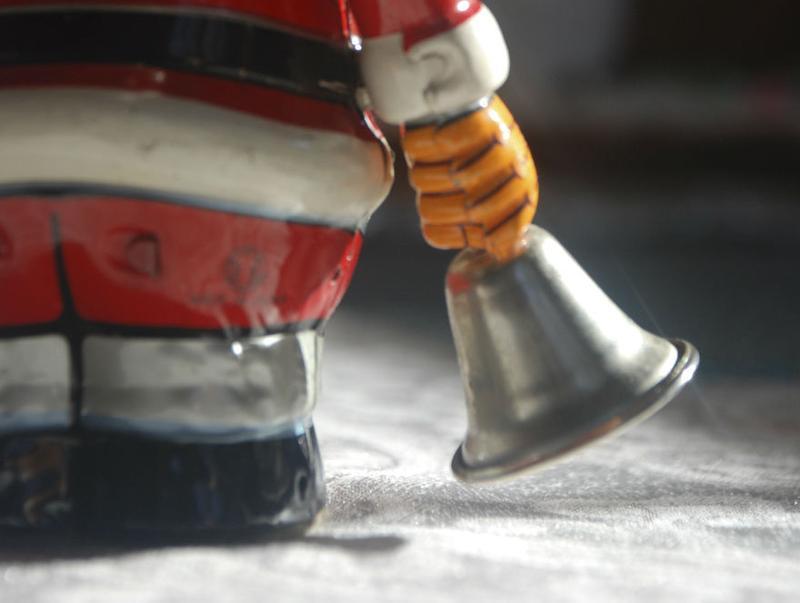 Santa is walking away