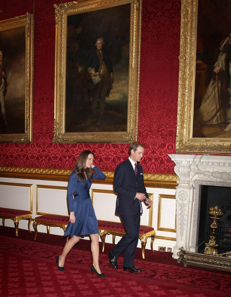 Prince William And Kate Middleton Arrive To Pose For Photographs In The State Apartments Of St James Palace On November 16 2010 London England