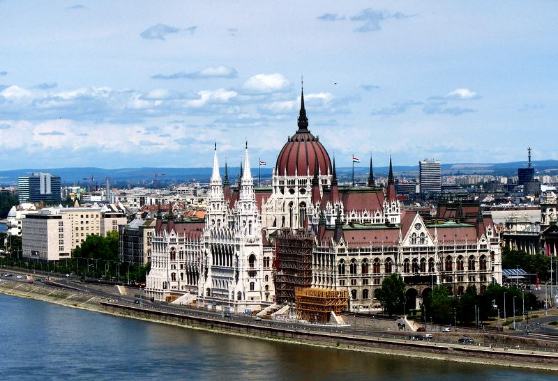 Hungarian Parliament buildling in Budapest