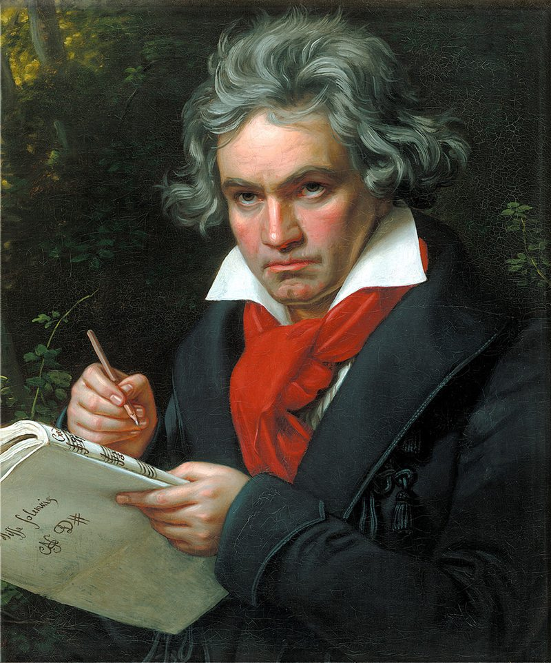 Portrait of Ludwig van Beethoven by Joseph Karl Stieler.
