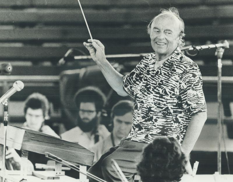 Conductor Andre Kostelanetz in Canada, July 17, 1973.