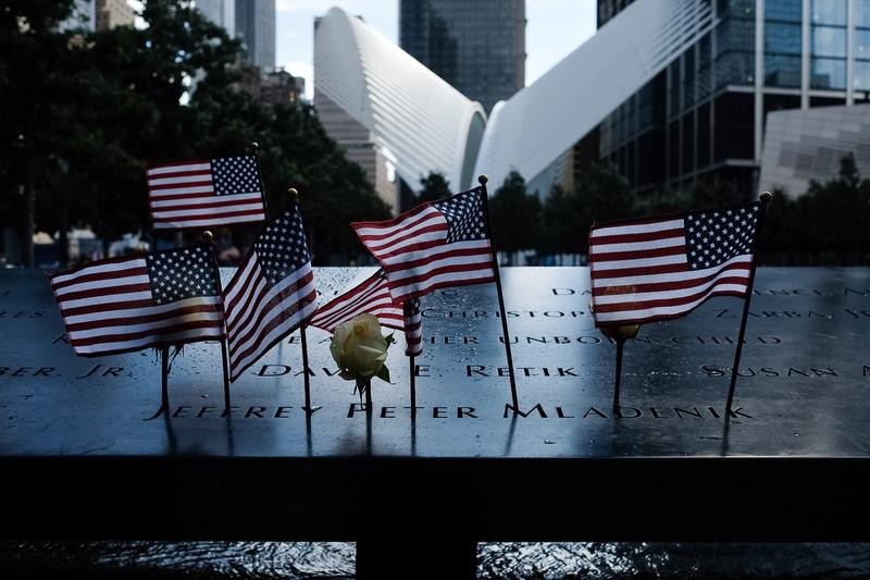 At the 9/11 Memorial Plaza on the 15th Anniversary of the attacks. More than 8,000 people attended the annual reading of the names.