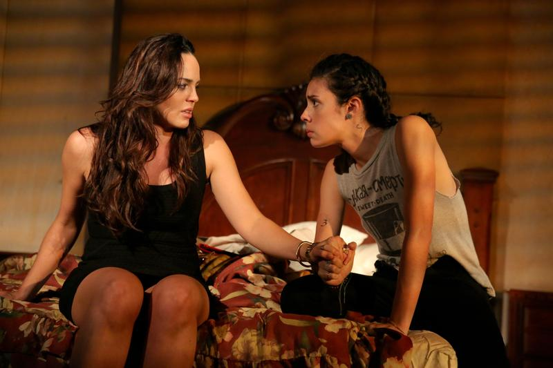 Marta Milans as Lili and Roberta Colindrez as Mari in 'Mala Hierba.'